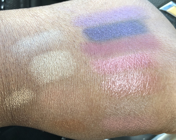 Hand Swatches for Too Faced Razzle Dazzle Berry and Sparkling Pineapple Eyeshadow Palettes
