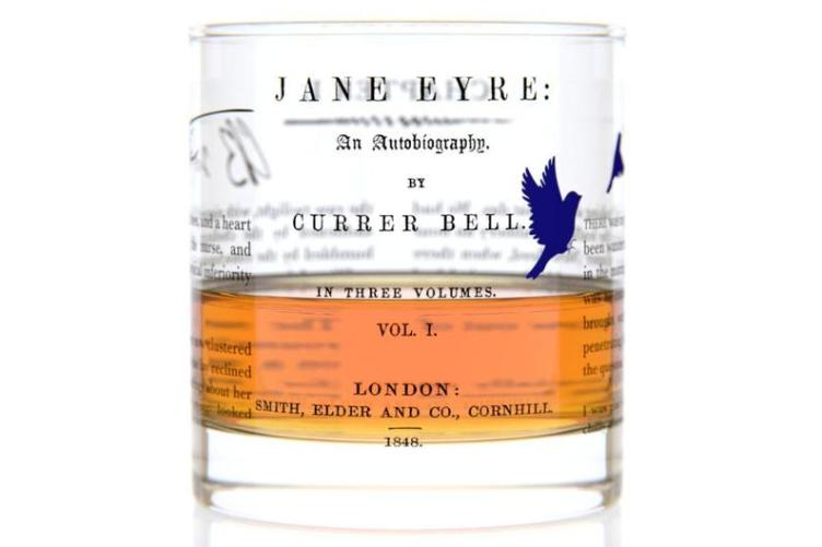 Jane Eyre Literature Rocks Glass