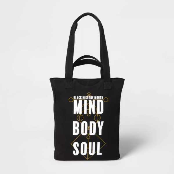 Target Black History Month Mind Body Soul Tote Bag