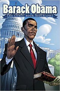 Barack Obama The Comic Book Biography Book Cover