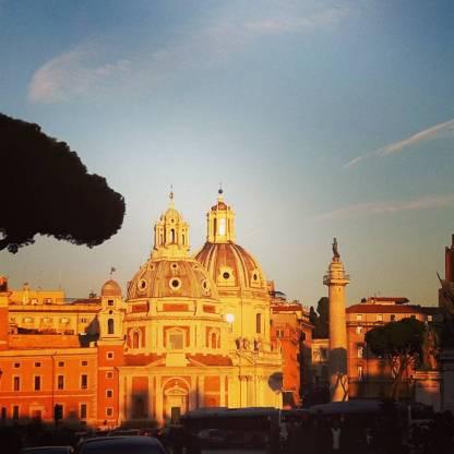 Sunset vom Monumento Vittorio Emanuele II