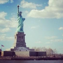 Miss Liberty - fotografiert während einer Hafenrundfahrt.