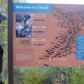 Auf den Weg zum Abseiling im Kalbarri Nationalpark