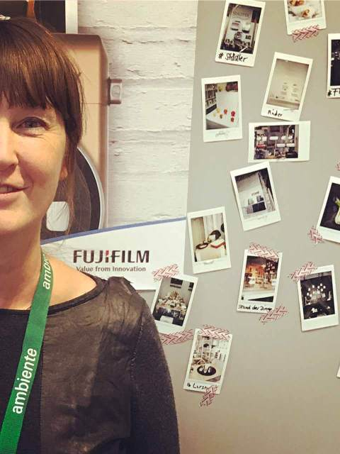 Katja auf dem Blog Ups Stand.