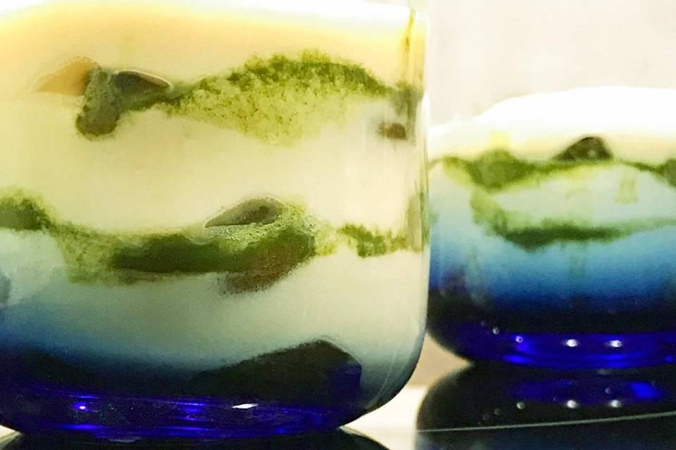 Zum Dessert eine Variante des italienischen Klassikers: Matcha Tiramisu