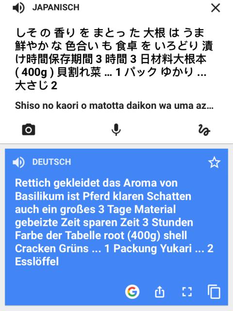 Beispiel für eine automatische Übersetzung.