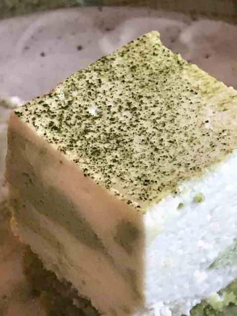 Fluffig leicht: Matcha-Marble-Creme.