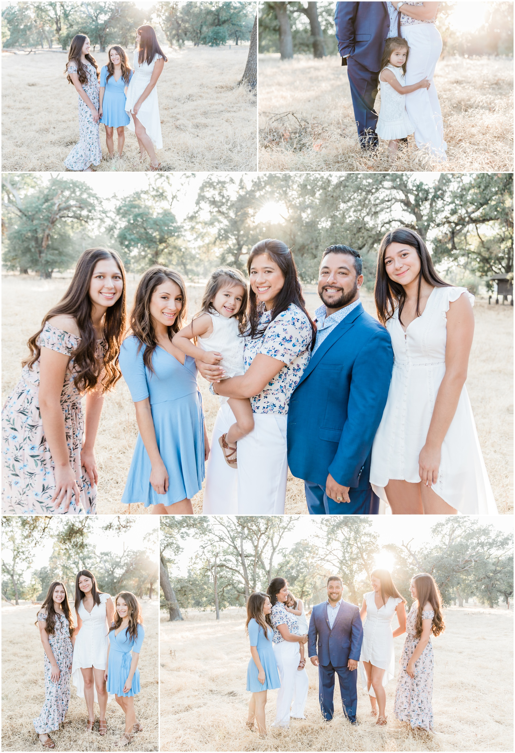 Family photo outfit inspo, Outdoor family portraits, family of 6, Photography by KCM Photography, a fine art portrait and wedding photographer based in Lodi, CA