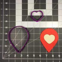 Wedding Map Pin 100 Cookie Cutter Set