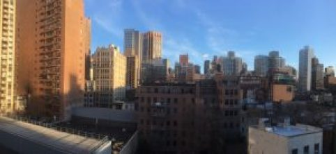 NYC rooftops from Park South Hotel