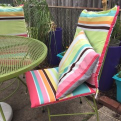 Do It Yourself Patio Chair Cushions Gold Damask Covers Weekend Diy Turn An Old Shower Curtain Into Super Cute