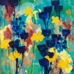 """Echoes of Spring,"" a floral acrylic painting by Katrina Allen. Prints can be ordered at katrinaallenart.com."