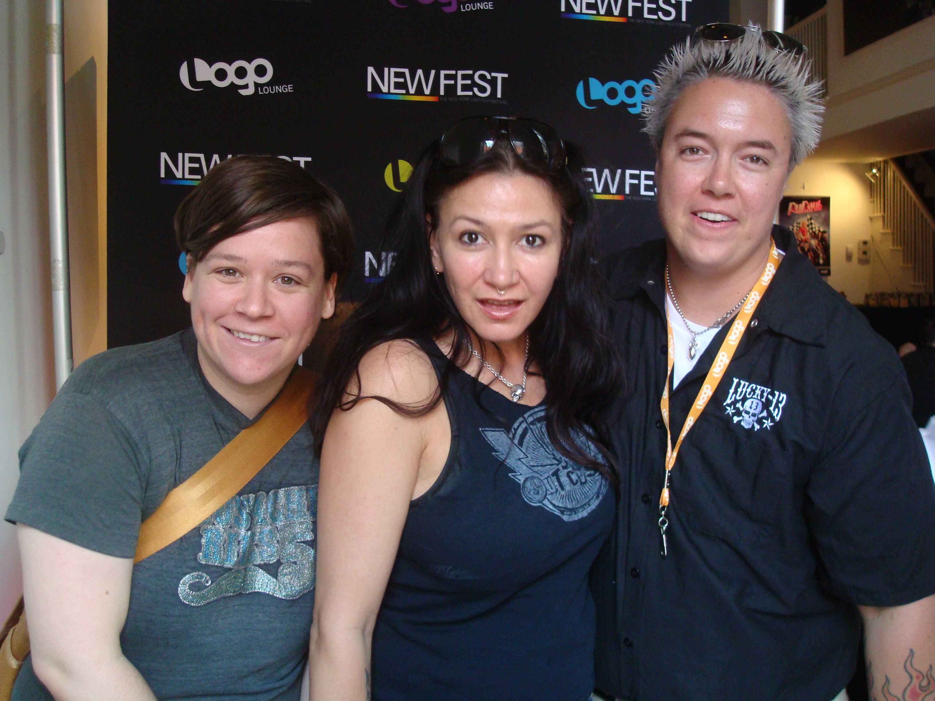 Ali Cotterill, Katrina del Mar & Kenny Hillman at NewFest '09 photo by Sarah Greenwood