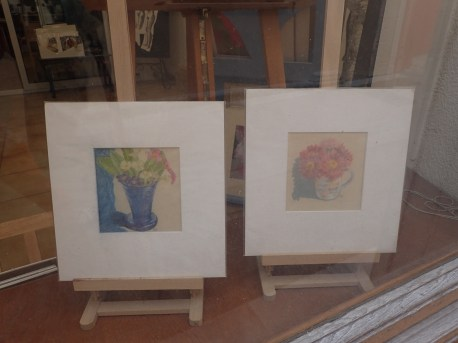 Mounted pastel on paper Image 13 x 13 cms 30 euros each