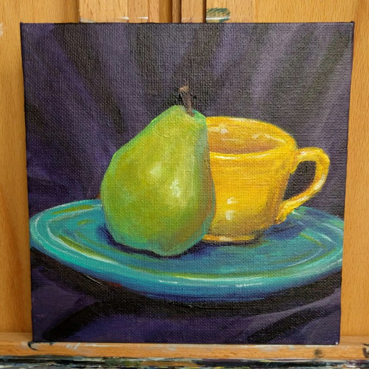 Fiestaware and Pear