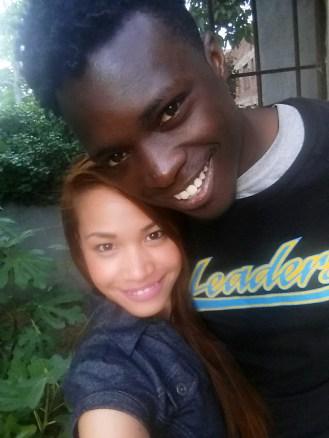 Me and my loving husband. <3
