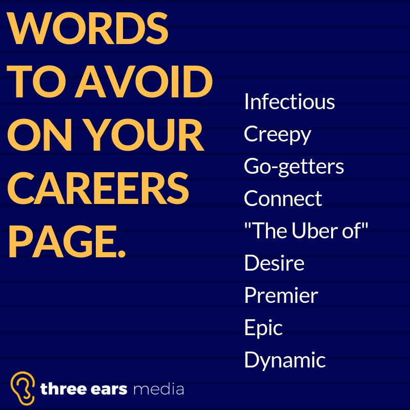 BANNED FROM careers page
