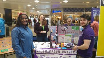 The Feminist Society and Student's Union stall from the University of Southampton
