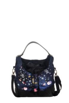 Tasche mit Planeten und Sternapplikationen