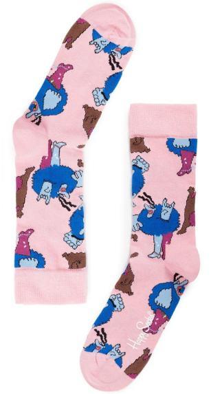 Blue Meanie auf rosa Socken