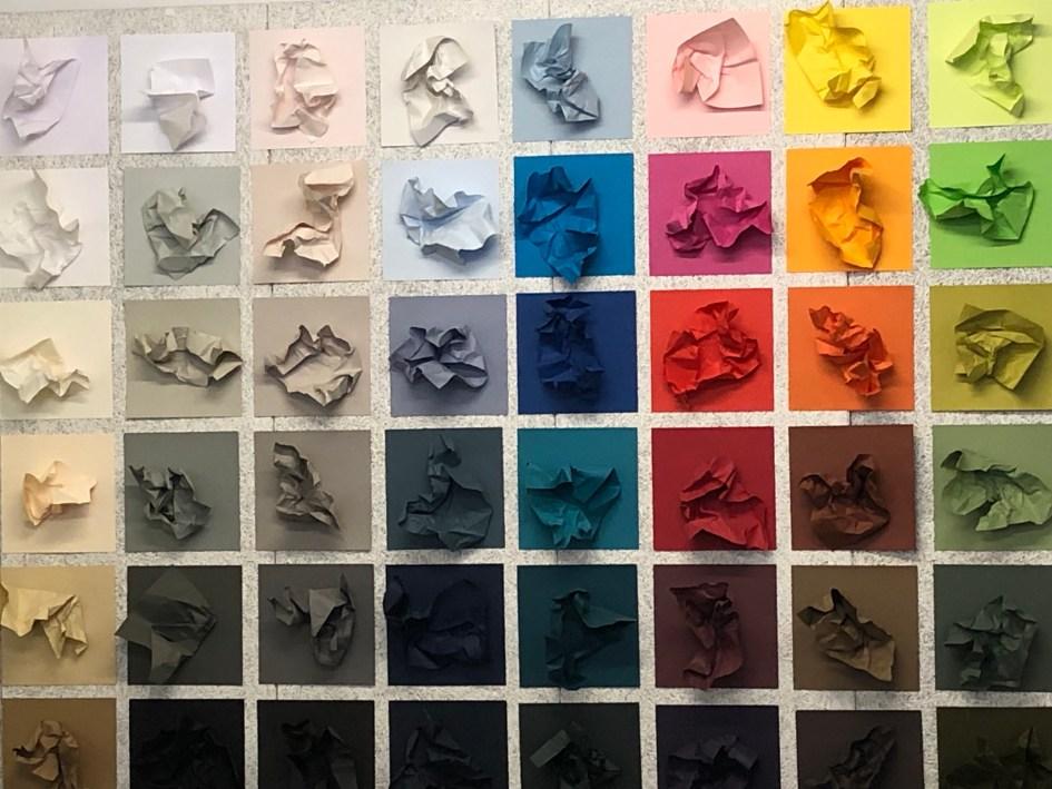 Ein Kunstwerk in den Räumen von Gmund Papier
