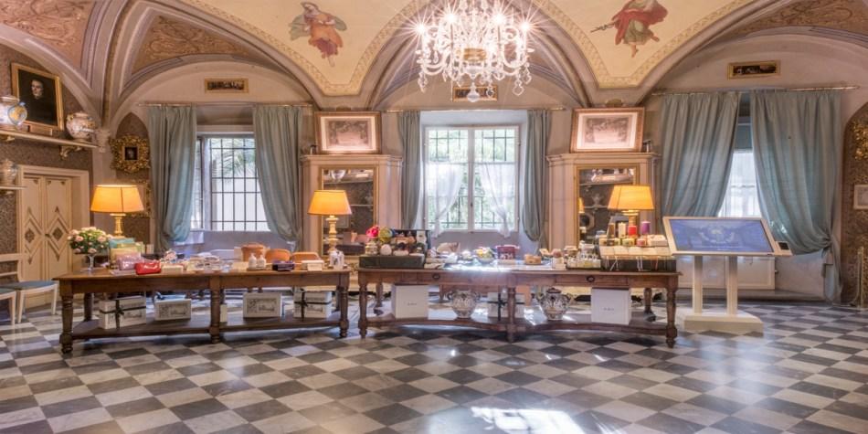 Der grüne Saal in Florenz - hier wurden Besucher im 18.Jahrhundert mit Schokolade bewirtet - ein besonders schöner Raum in Santa Maria della Novella in Florenz