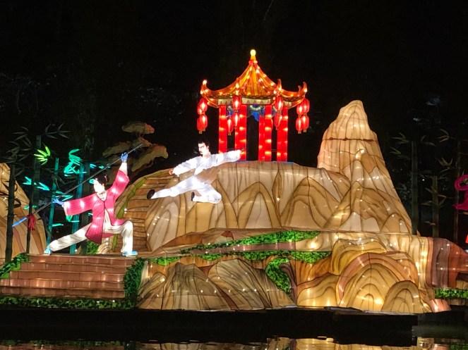 Lichterinseln in den Gardens by the Bay in Singapur