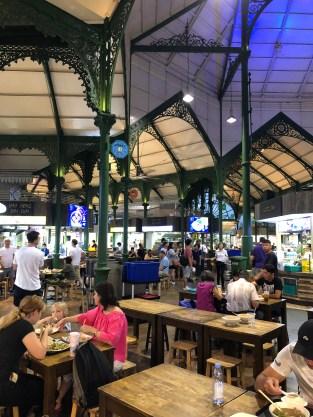 ein Foodmarkt in historischem viktorianischen Gebäude ist Lau Pa Sat