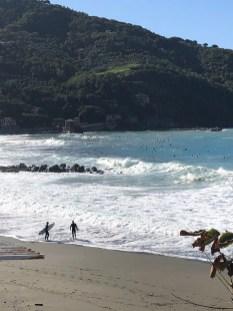 Surfer bei Levanto