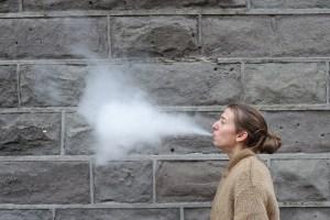 Selbstportrait mit Dampfwolke