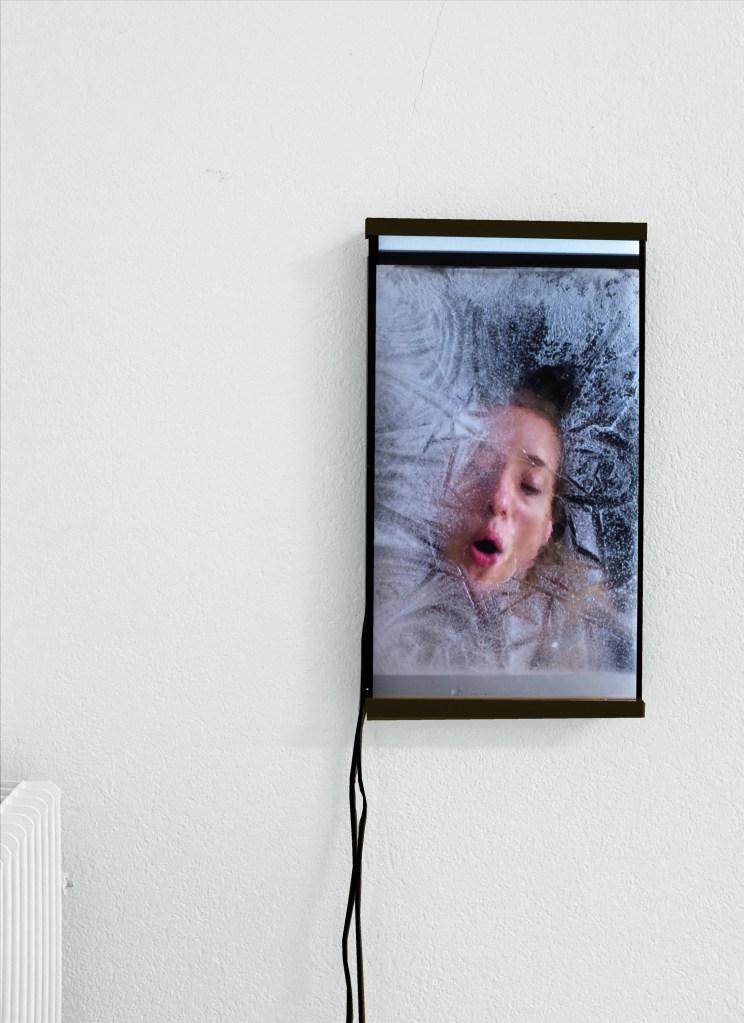 Ausstellungsansicht Video hochformatig