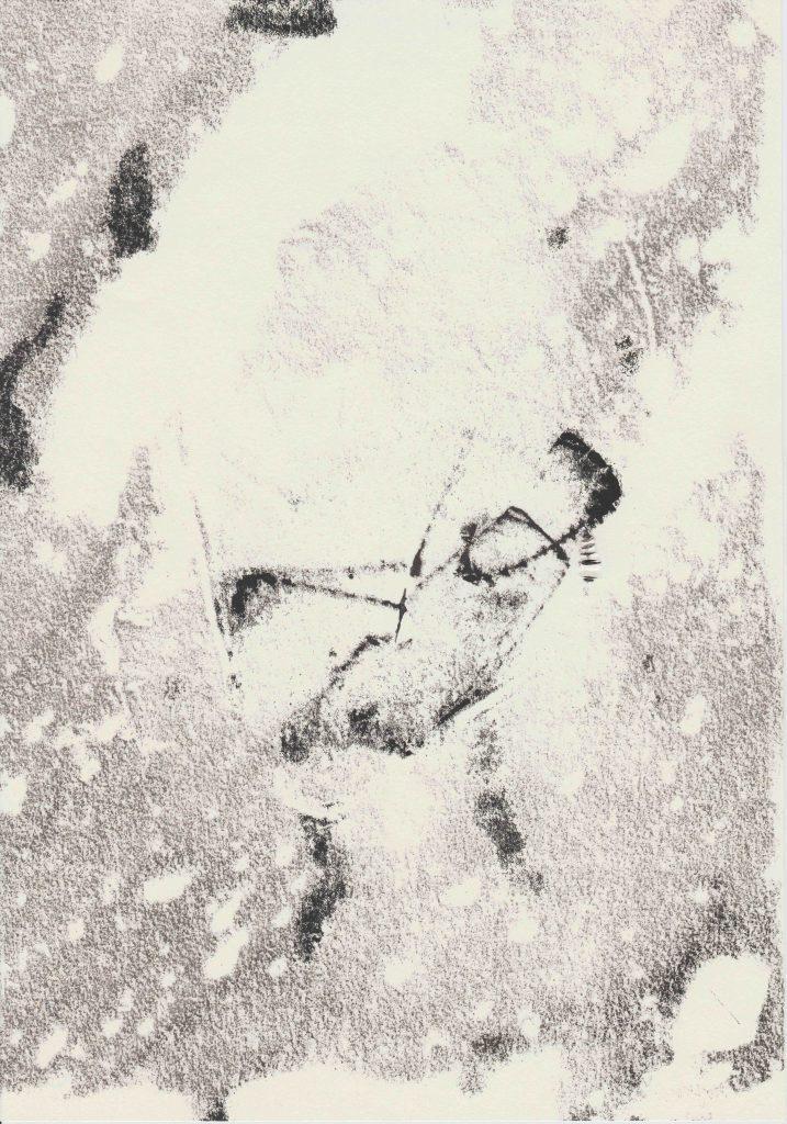 Monotypie Stochern
