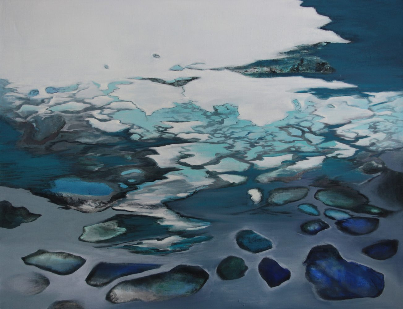 WATERLINES 2, oil on canvas 77 x 100 cm 2012