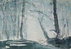 WOODLAND 29, 2015 Monotypie 20 x 30 cm
