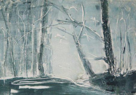 WOODLAND 29, SOLD, 2015 Monotypie 20 x 30 cm