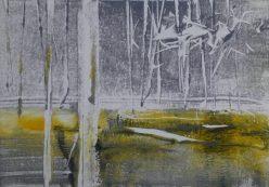 YELLOW LIGHT, 2016 Monotypie 10,5 x 15 cm, Privatbesitz