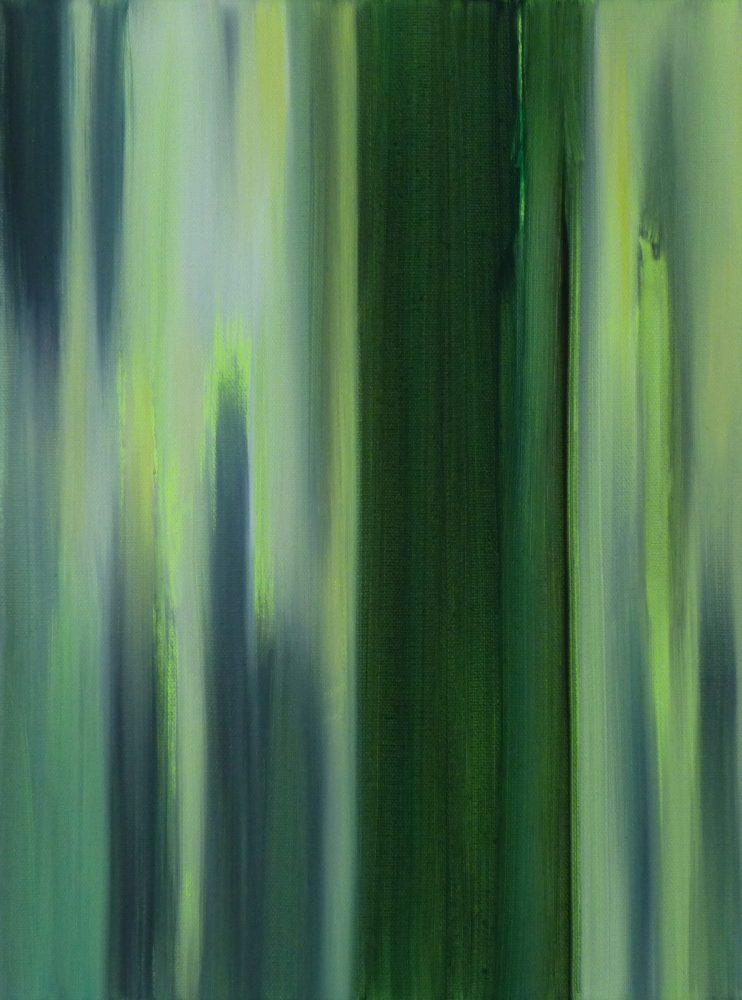 VERTIKAL 25, 2016 Öl auf Leinwand 40 x 30 cm