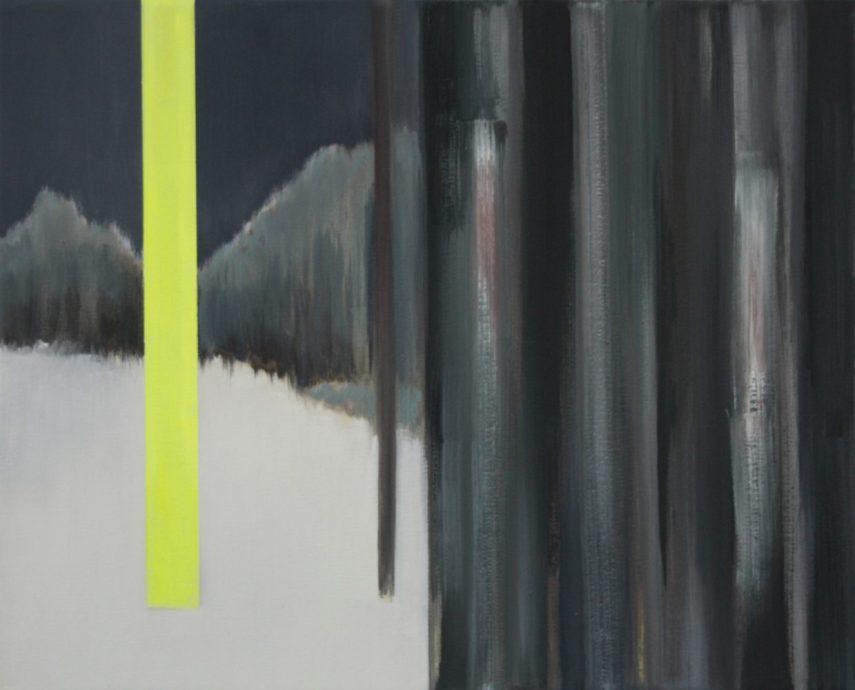 VERTIKAL 15, 2016 Öl auf Leinwand 40 x 50 cm