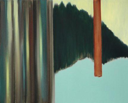 VERTIKAL 22, 2016 Öl auf Leinwand 40 x 50 cm