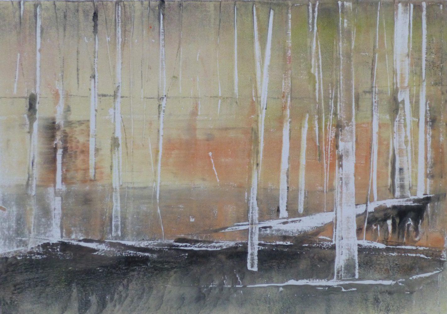 WOODS, 2016 Monotypie 21 x 30 cm, Sold