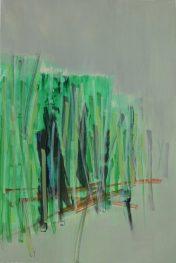 FELDKANTE 7, 2017 acryl on paper 24 x 16 cm