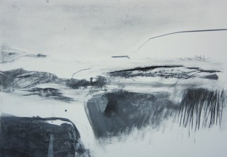 RAVINE 2, 2012 Graphit on paper 35 x 50 cm