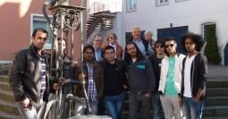 Gruppenbild mit Altstadt-Ini. Ex-Bürgermeister Heinz Heil lud zu einer Führung durch Sankt Goar ein.