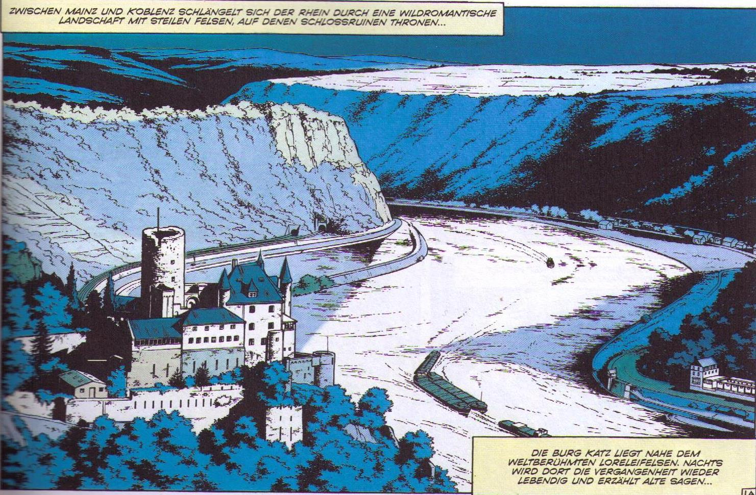 Die Burg, der Kran, die Teufelsorgel. Sankt Goarshausen im Comic, 1972