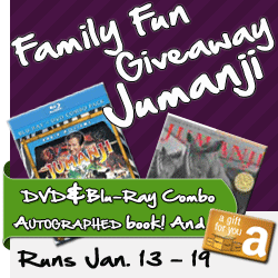 Family Fun Night Jumanji Movie and Book Giveaway
