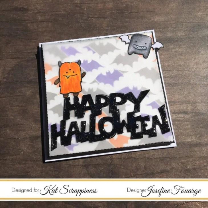 mini halloween card