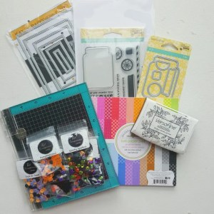 Halloween Shaker Card supplies