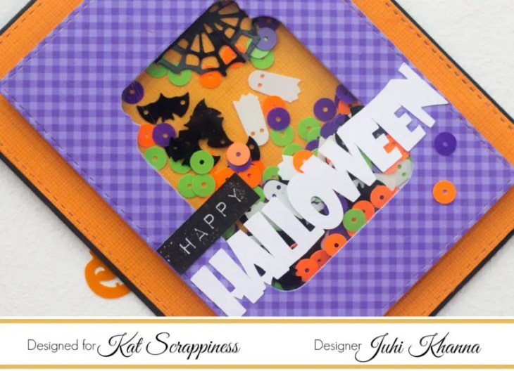 Halloween Jar Shaker Card Close up
