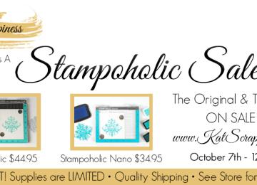 Stampoholic Stamping Tool Sale at Kat Scrappiness.com!