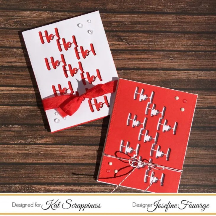 Christmas Card with Die Cut Pattern